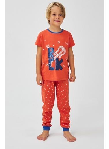 Penti Erkek Çocuk Çok Renkli Rock 2'li Pijama Takım PNHAROM020SK Renkli